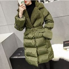 Honeydew - Notch Lapel Padded Coat