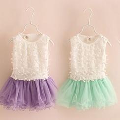 Seashells Kids - Kids Sleeveless Tulle Dress