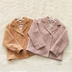 Jelly Cake - Notched-Lapel Double-Breasted Jacket