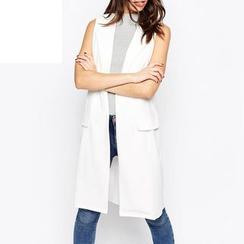 Richcoco - 无袖西装长外套