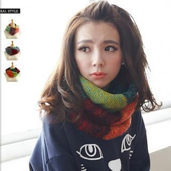 BAIMOMO - Color-Block Circle Scarf