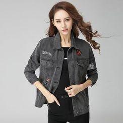 Arroba - Applique Denim Jacket