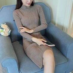 SimplyMe - 长袖塑身针织连衣裙