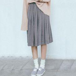 Clair Fashion - 小清新高腰百褶半身裙