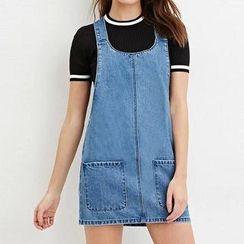 Chicsense - Denim Jumper Skirt
