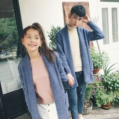 FULLHOPE - Long Couple Matching Knit Cardigan