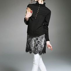 Alaroo - Lace Panel Long Blouse