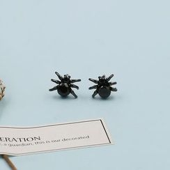 Love Generation - Rhinestone Spider Stud Earrings