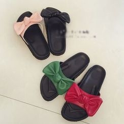 Micha - Bow Accent Slide Sandals