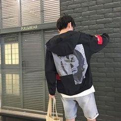 JUN.LEE - Print Hooded Jacket