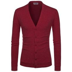 TheLees - Wool-Blend V-Neck Cardigan