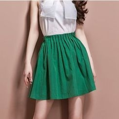 Ozipan - Pleated A-Line Skirt