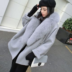 Cookadoo - Maternity Furry Trim Coat
