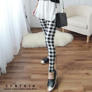 CYNTHIA - Plaid Leggings