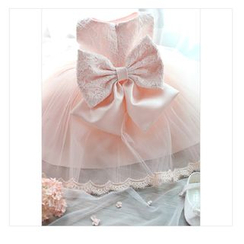 Cuckoo - Kids Bow Lace Mesh Dress