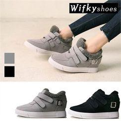 Wifky - Fleece-Trim Velcro Sneakers