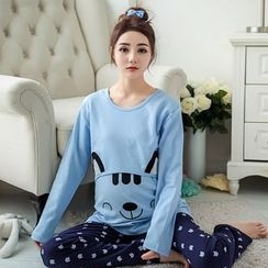 GESTA - Maternity Lounge Wear Set: Long-Sleeve Top + Pants