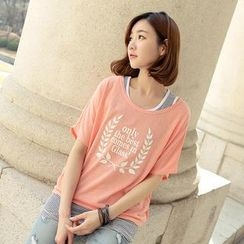CLICK - Set: Laurel Crown Print T-Shirt + Tank Top