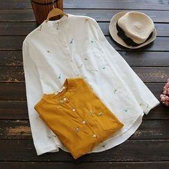 YOYO - 刺绣灯芯绒衬衫