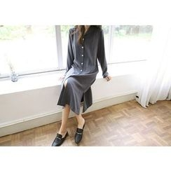 Hello sweety - Slit-Hem Shirtdress