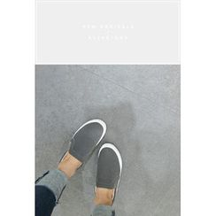 ATTYSTORY - Faux-Leather Slip-Ons