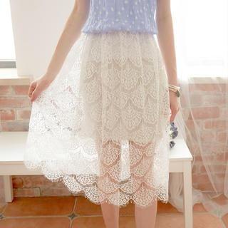 Tokyo Fashion - Lace Midi Skirt