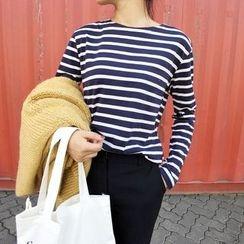 HELLO KANO - Long-Sleeve Striped T-Shirt