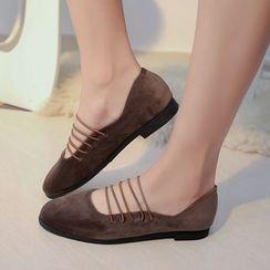 Charming Kicks - 多带平跟鞋
