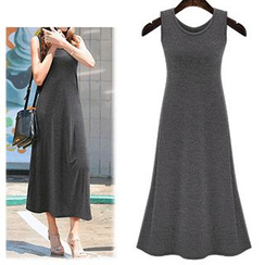 AGA - Plain Maxi Tank Dress