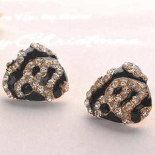 Fit-to-Kill - Leopard Square Earrings - Black