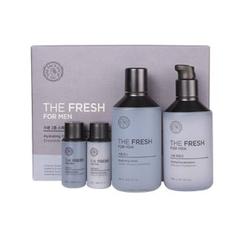 The Face Shop - The Fresh For Men Hydrating Facial Skincare Set: Toner 150ml + 32ml + Emulsion 140ml + 32ml