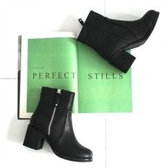 GLAM12 - Fleece-Lined Ankle-Length Boots