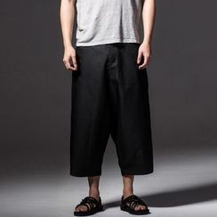 Ashen - Straight-Cut Cropped Pants