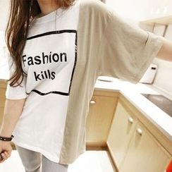 NANING9 - Color-Block T-Shirt
