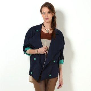YesStyle Z - Double-Breasted Tab-Sleeve Jacket