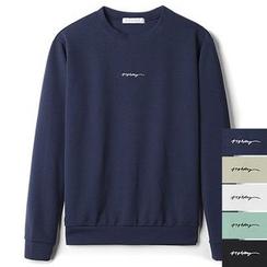 Seoul Homme - Long-Sleeve Lettering T-Shirt
