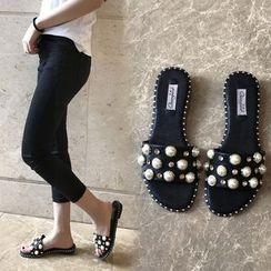 QQ Trend - Embellished Slide Sandals