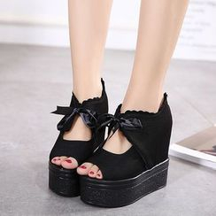 Anran - Tie Front Platform Sandals