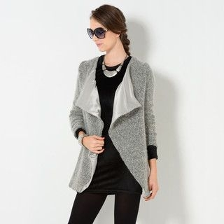YesStyle Z - Wide Lapel Open-Front Jacket