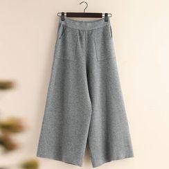 11.STREET - 針織寬腿褲