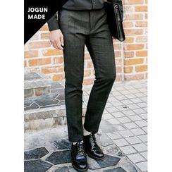 JOGUNSHOP - Flat-Front Check Pants