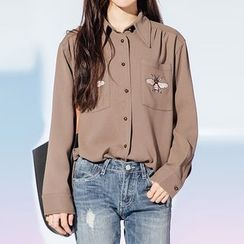 Heynew - Embroidered Long-Sleeve Shirt