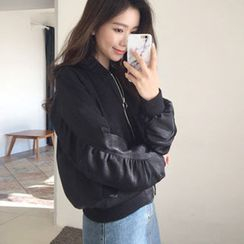 Hello sweety - Round-Neck Zip-Up Jacket