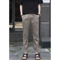PLAYS - Band-Waist Tapered Pants