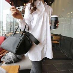 Kasan - Maternity Plain Long Shirt