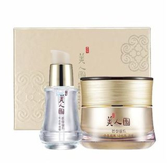The Face Shop - Myeonghan Miindo Heaven Grade Ginseng Wrinkle Care Set : Night Cream 50ml + Serum 32ml