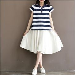 Fancy Show - Short-Sleeve Striped Polo Shirt