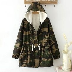 Softies - Fleece-Lined Printed Hooded Zip Coat