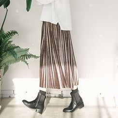 11.STREET - Accordion Velvet Skirt