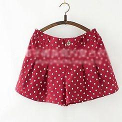 ninna nanna - Band-Waist Dotted Shorts